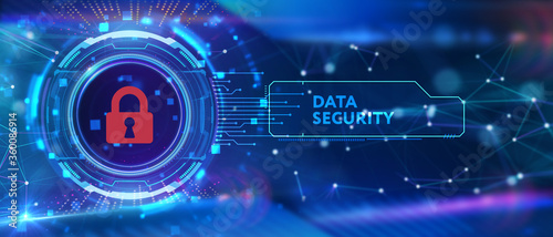 Cyber security data protection business technology privacy concept Fototapet