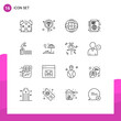 16 Universal Outlines Set for Web and Mobile Applications diving, internet, search, globe, learning