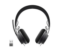Black Wireles Headset For Listenig Audio