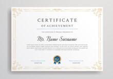 Golden Diploma Certificate For...