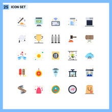 25 Flat Color Concept For Websites Mobile And Apps Technology, Shopping, Pointer, Sale, Commerce