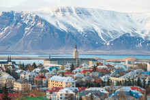 Cityscape View Of Reykjavik Th...