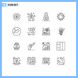 16 Universal Outlines Set for Web and Mobile Applications spring, brightness, month, sun, padlock