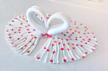 Towel Folded Into Heart Shape ...