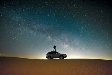 car in the desert