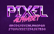 Pixel Alphabet Font. Hard Rock...