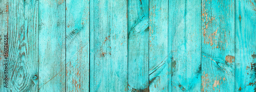 Photo Weathered blue wooden background texture