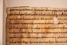 Anglo-saxon Leaf Showing Scrip...