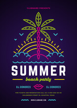 Summer Beach Party Flyer Or Po...