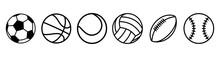 Sport Balls Set. Ball Icons. B...