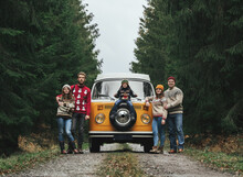 Group Of Young Friends Traveli...