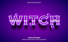 Editable Text Effect, Witch Te...