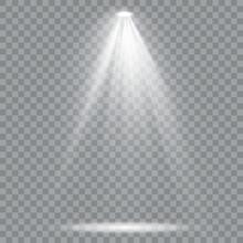 Set Of Golden Spotlight Isolat...