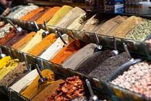 Spices On Sale In The Spice Ba...