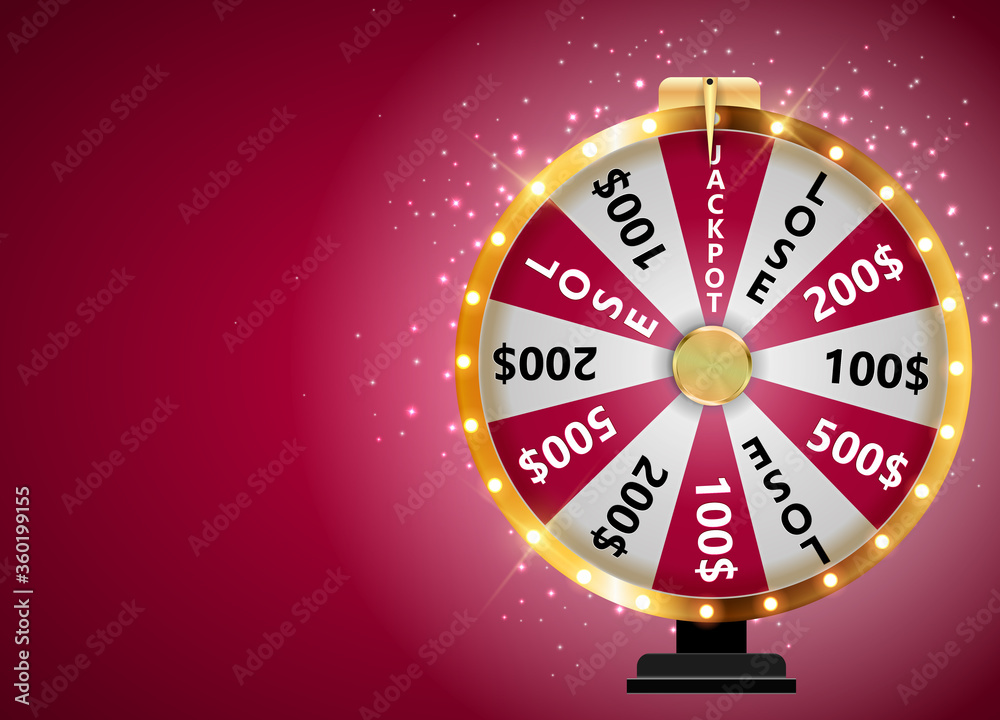 Fototapeta Wheel of Fortune, Lucky Icon with Place for Text. Vector Illustration