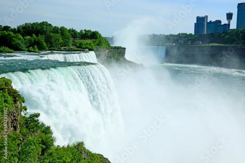 American Niagara Falls and Niagara River - New York, USA