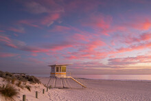 Lifeguard Tower At Sunset,Pert...