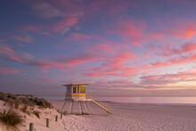 Lifeguard Tower At Sunset,Perth Western Australia