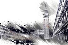Venice Art Drawing Sketch Illu...