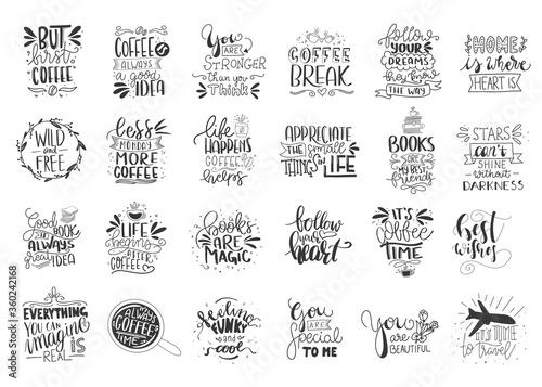 Modern handlettering. Hand drawn typography phrase design. Canvas-taulu