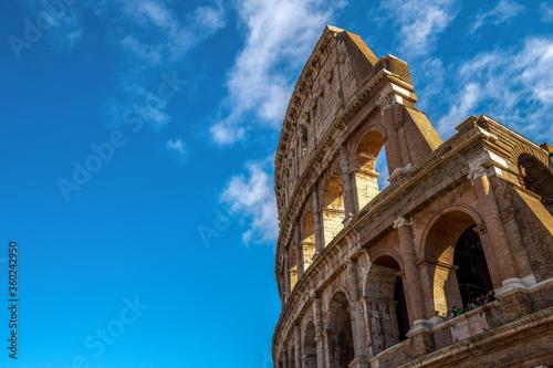 Widok na Coloseum, Rzym, Włochy Fototapet
