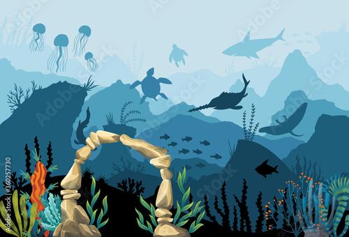 Underwater sandstone arch Wallpaper Mural