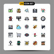 25 Creative Icons Modern Signs and Symbols of globe, earth, filter, speaker, music