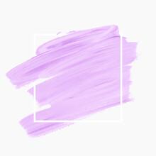 Lavender Brush Stroke Paint Ov...