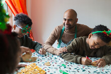 Happy Father And Sons Decorati...
