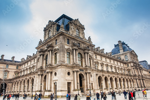 Fotografie, Obraz The Louvre Museum in a freezing winter day just before spring in Paris