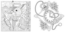 Coloring Pages With Bunny And ...