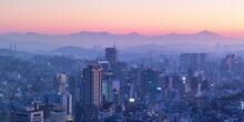 View Of Seoul At Dawn, South K...