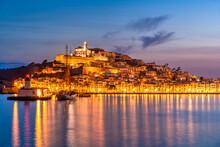 Dalt Vila Old Town Skyline, Ibiza, Balearic Islands, Spain