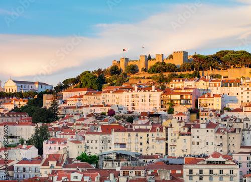 Portugal, Lisbon, Sao Jorge Castle and city - 360280987