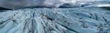 Panoramic view of glacier against cloudy sky, Knik Glacier, Palmer, Alaska, USA