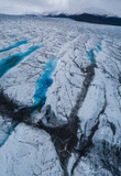 Drone view of glacier, Saas Fee Wallis, Switzerland
