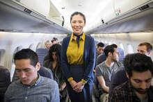 Portrait Confident Female Flig...