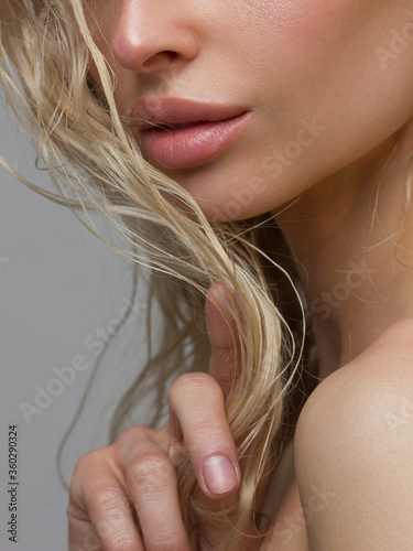 Sexual full lips Canvas-taulu
