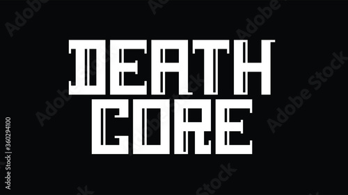 Photo Custom display logo font of Death Core in dimensional style with abstract drop s