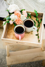 Morning Coffee In Bed On A Tray