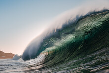 Wave Breaking Under The Sunset...