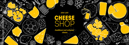 Vászonkép Cheese design template