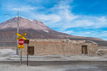 The Border Town Of Ollague Between Chile And Bolivia