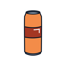 Beer Large Can Icon, Line Fill Style