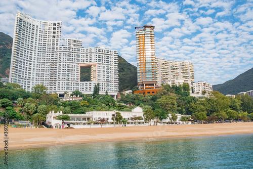 Fotografia, Obraz Empty beach by Repulse Bay. Hong Kong.