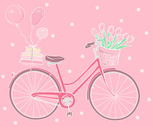 Greeting Card With A Bicycle, ...