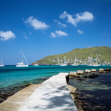 Sail Boats In The Caribbean Ha...
