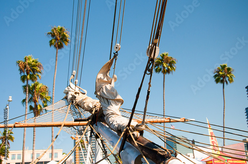 Tall Sailing Ship in Festival of Sail in Harbour of San Diego California USA Fototapeta