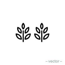 Vector Farm Wheat Ears Icon Te...