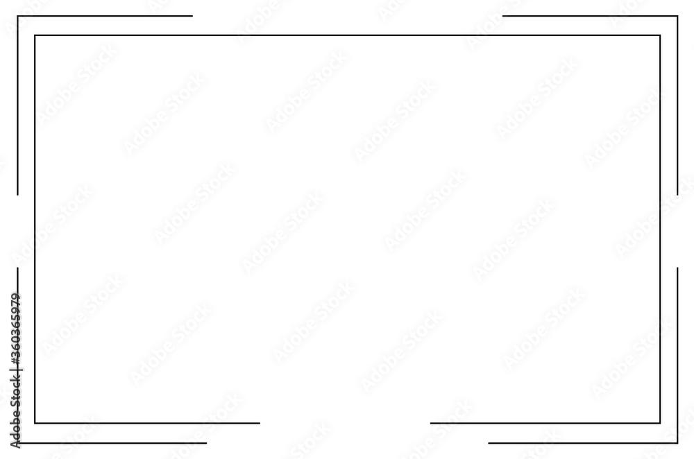 Fototapeta Frame Icon isolated vector. Vector Illustration. EPS 10.